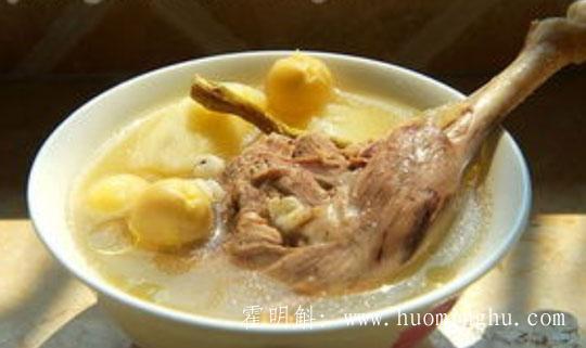 霍山石斛老鸭汤的做法和功效